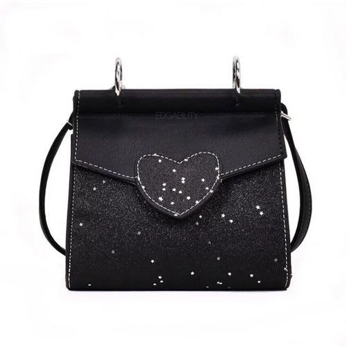 glitter bag black bag edgability