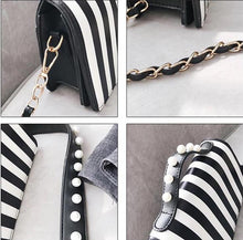 striped black bag studded bag edgability detail view