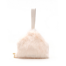 fur bag box bag in white edgability side view