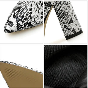 snakeskin boots heeled boots ankle boots edgability detail view