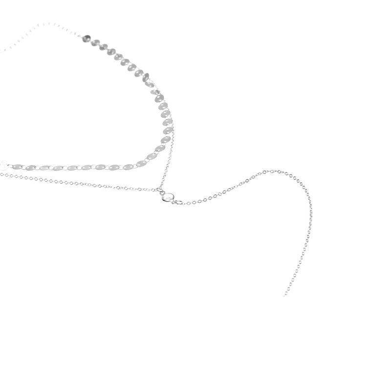 layered necklace silver choker edgability