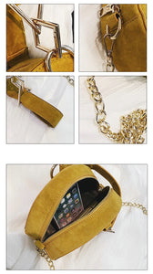 round bag yellow bag sling bag box bag edgability detail view