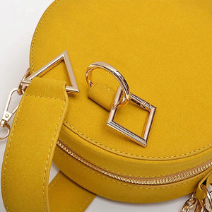 round bag yellow bag sling bag box bag edgability close view