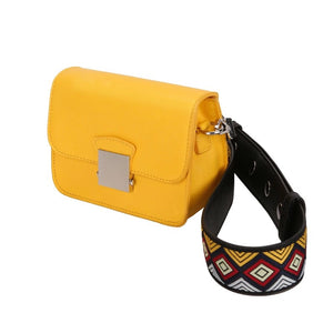 yellow purse online edgability angle view