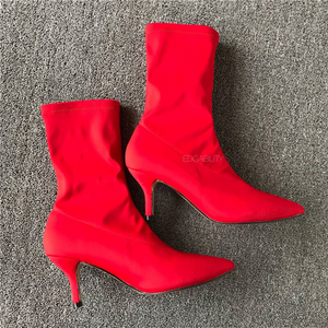 red boots with kitten heels edgability top view