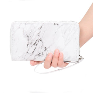 marble design trendy wallet for women edgability model view