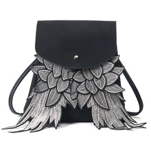 black bag mini backpack embroidered bag edgability