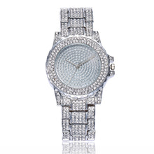 crystal studded diamonte silver watch edgability