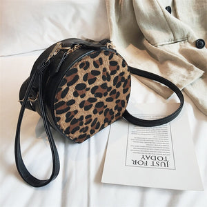 leopard print box bag round bag edgability top view