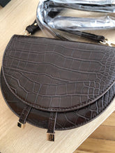 classy croc skin envelope brown bag sling bag edgability flat view
