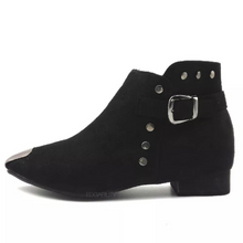 studded boots ankle boots edgability side view