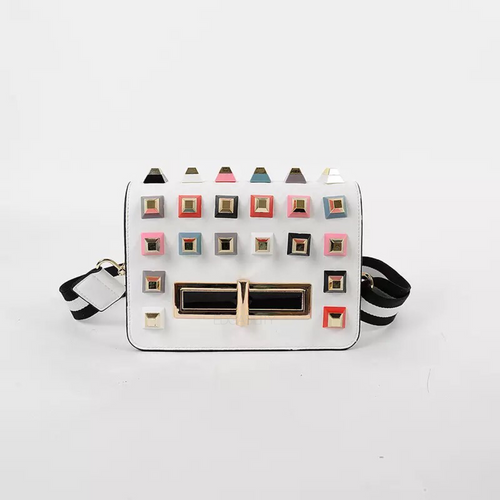 party bag studded bag with multicoloured rivets edgability