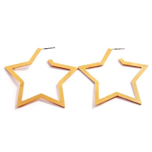 star hoops gold earrings edgability front view