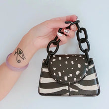 leopard zebra print boho black and white bag edgability full view