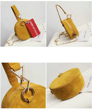 round bag yellow bag sling bag box bag edgability angle view