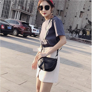 black bag sling bag classy bag edgability model view