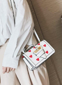 white bag hearts sling bag edgability size view