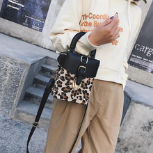 leopard bag box bag fur bag studded bag edgability model view