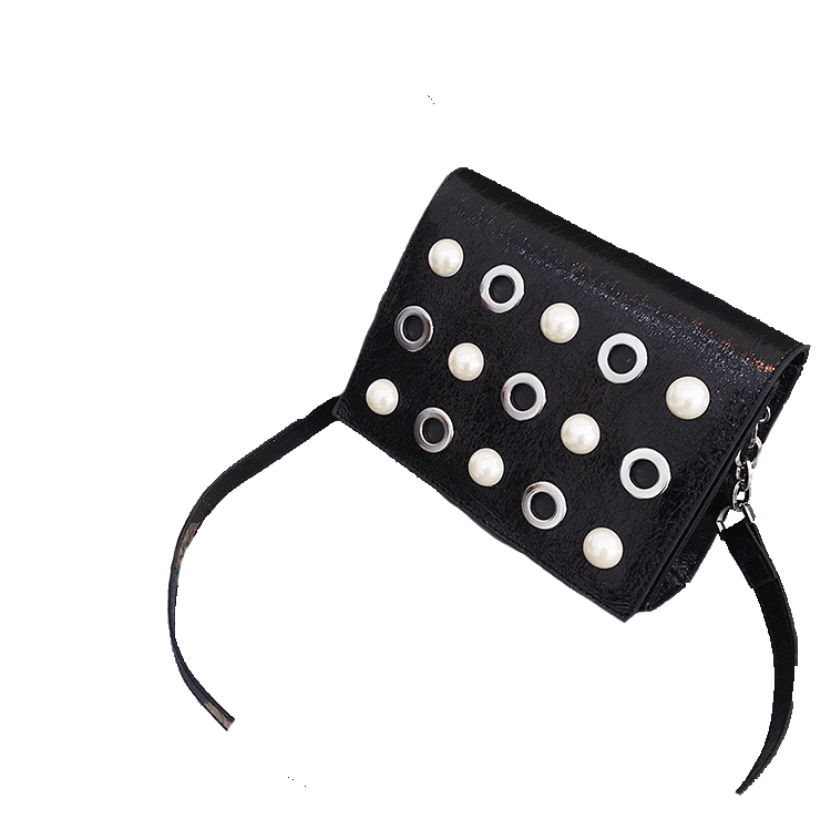 studded bag black bag sling bag edgability