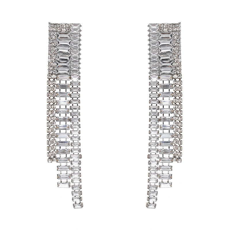 long statement earrings crystal earrings chic jewelry edgability