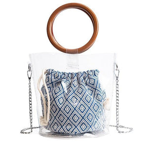aztec bucket bag clear bag edgability