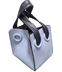 blue bag bucket bag mini bag sling bag edgability front view