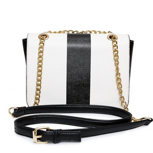 black and white bag classy bag edgability back view