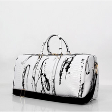 marble white travel bag edgability front view