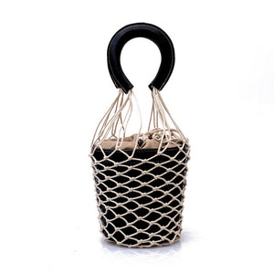 bucket bag basket drawstring bag black bag edgability