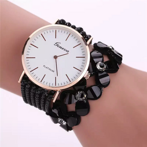 black watch floral bracelet beaded edgability model view