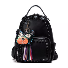 black studded backpack with black rivets front view edgability