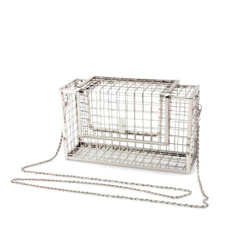 cage bag metallic bag edgy fashion edgability angle view