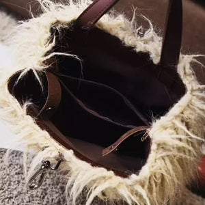 fur bag mini backpack edgability inside view