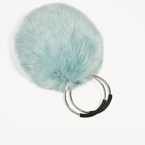 blue fur bag with hoop handles edgability top view