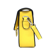 structured yellow sling bag side view edgability