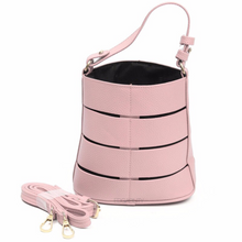 pink bucket bag office bag edgability front view