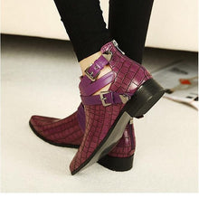 flat croc skin ankle boots edgability model view