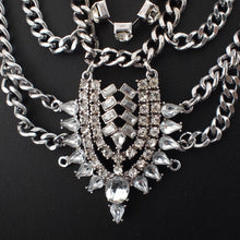 layered necklace statement necklace silver jewellery edgability detail view