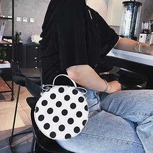 polka dots bag box bag round bag edgability model view