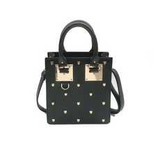 heart studs studded bag edgability
