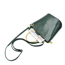 black bag bucket bag with ring handle edgability top view