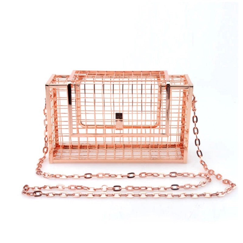 rose gold metallic bag box bag edgability