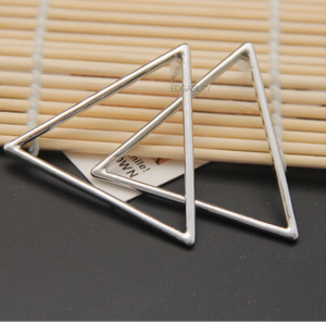 triangle earrings silver earrings edgability top view