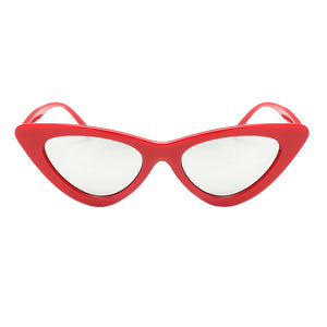 cat eye sunglasses red sunglasses edgability front view