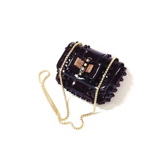 studded black sling bag black bag edgability