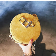 round bag yellow bag sling bag box bag edgability top view