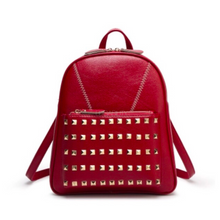 studded red backpack edgability