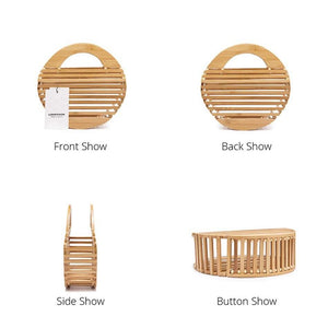 bamboo bag round bag box bag travel bag edgability detail view