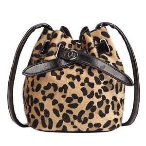 bucket bag drawstring bag sling bag leopard bag edgability