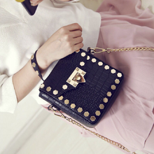 black bag studded bag classy bag edgability model view